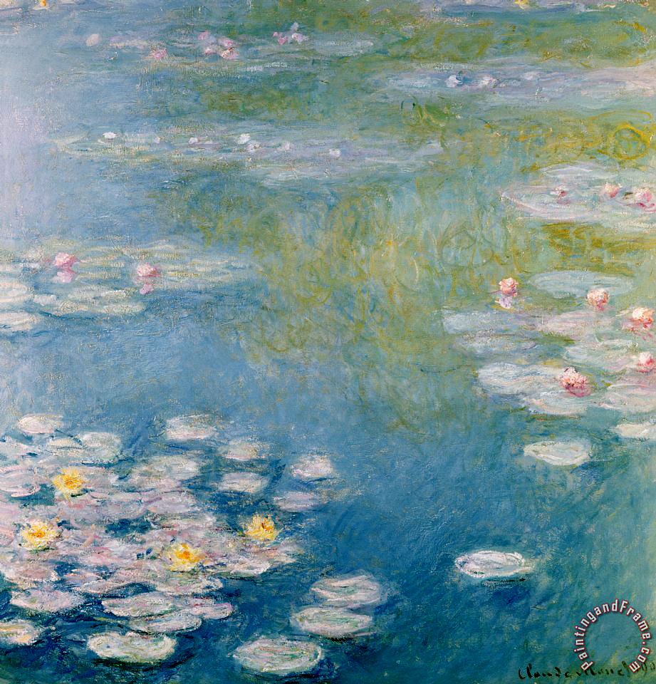 Claude Monet Nympheas At Giverny Painting Nympheas At