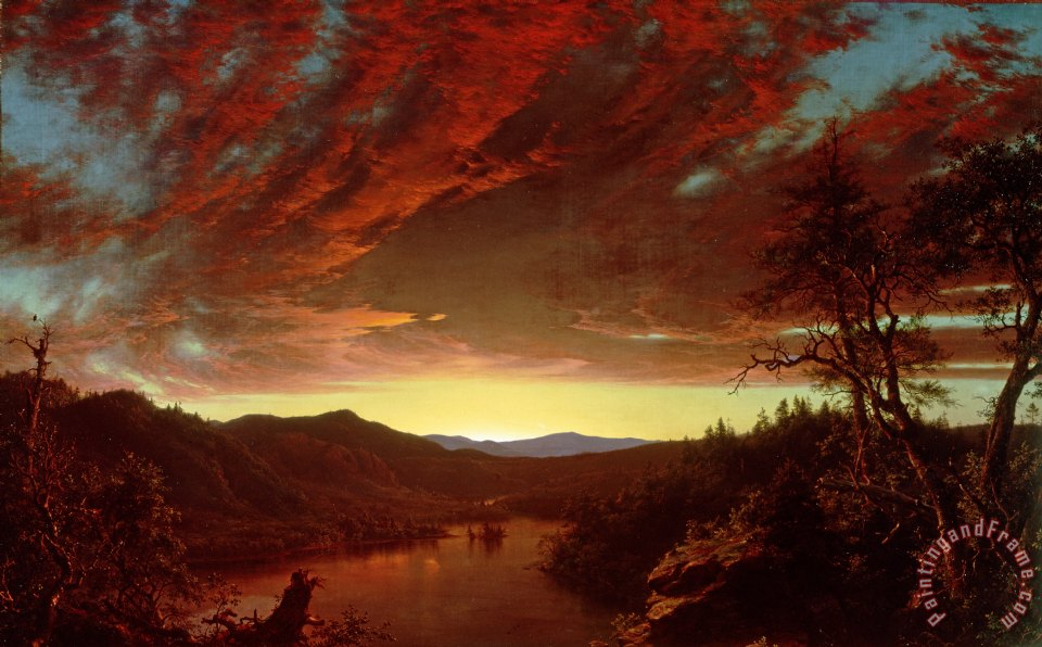 Frederic edwin church twilight in the wilderness painting for Frederick church paintings