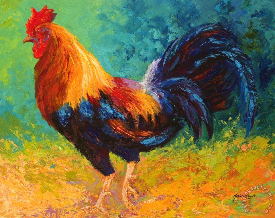 Marion rose mr big rooster painting mr big rooster for Big artwork for sale