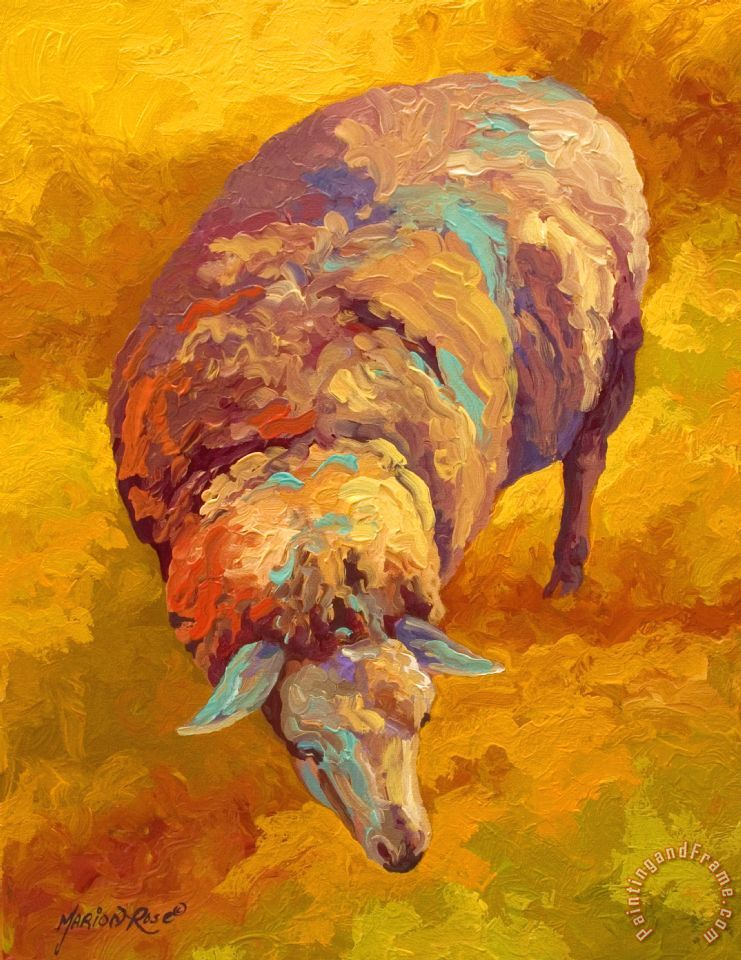Marion rose sheepish painting sheepish print for sale for Large prints for sale