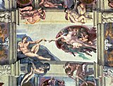 Sistine Chapel Ceiling Creation of Adam by Michelangelo